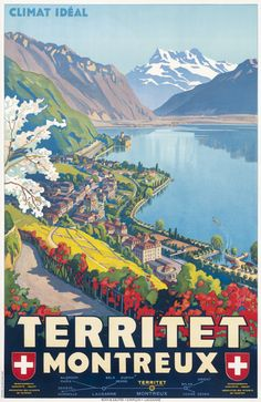 Johannes Emil Muller Poster: Territet Montreux - Climat Ideal