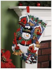 Bucilla ® Seasonal - Felt - Stocking Kits - Snowman & Birds