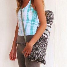 Quick and easy Yoga Mat Bag tutorial