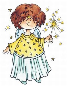 Angel with Goldstars Illustration Noel, Illustrations, Marianne Design Cards, Daisy Art, Cute Clipart, Christmas Drawing, Penny Black, Christmas Pictures, Digital Stamps