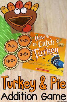Turkey & Pie Addition Game: Book-Inspired Activity for Kids