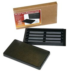 Automatic Vents break! Crawl Space Doors Air Vent with Removable Cover won't rust or rot! Manual Air Vent with Cover. Fixed Louvers and Vermin Screen.