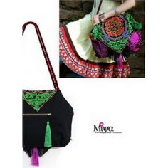 Miya Women s Ethnic embroidered shoulder bag - Concentric attic -  Miyafeeling.com. Mofee Wang · Embroidered Bags ... f8624b2f319c2
