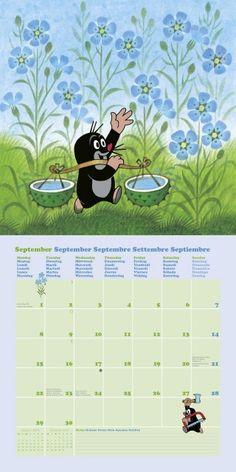 9 - The Little Mole Calendar 9 – Der kleine Maulwurf Kalender 2014 9 – The Little Mole Calendar 2014 - La Petite Taupe, Dreamworks, Alpine Flowers, Kitsch, Happy Paintings, Children's Book Illustration, Mole, Disney Art, Kids And Parenting