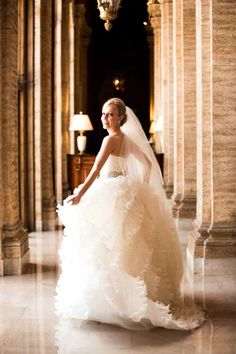Stunning bride and her oh-la-la wedding dress!