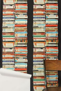 Stacked Paperback Wallpaper