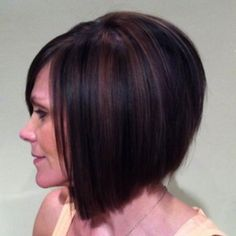 short bob with copper highlights - Google Search