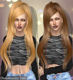 The Sims 4 Mody: Fryzura Disharmony od Deep Space