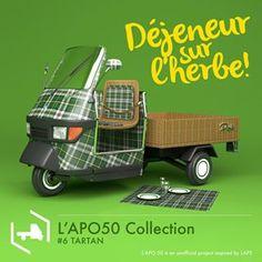 Tartan! @lapoindependent @garageitaliacustoms @italiaindependentofficial @piaggio_official #ape50 #apepiaggio #lapo50 #madeinitaly #icon #lapoindependent #garageitaliacustoms #innovation #urbanart #style #picnic #tartan