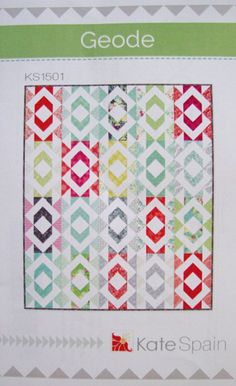 GEODE Quilt Pattern  Kate Spain  Fat Eighths by Jambearies on Etsy