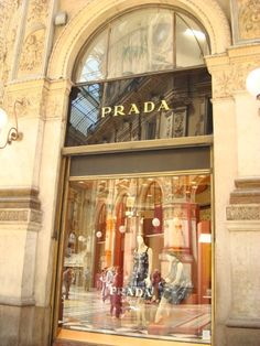 Prada in Milan - gorgeous architecture... no trip would be complete without a lil shopping excursion here.... :D