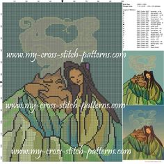 Lava song cross stitch pattern