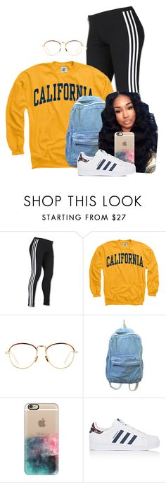 """✌✌"" by melaninprincess-16 ❤ liked on Polyvore featuring adidas, Linda Farrow and Casetify"