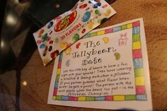 """Take turns feeding each other a """"mystery"""" jelly bean and try to guess the flavors!"""