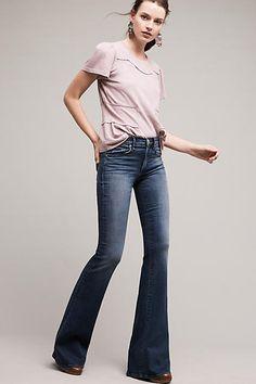 McGuire Majorelle Low-Rise Flare Jeans - anthropologie.com