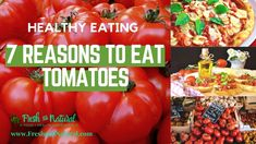 There are many benefits of eating tomatoes, find out the seven reasons to include these awesome veggies in your weekly snack and meal plan. #FreshandNatural #HealthyEating #CleanFoods #tomatoes #benefitsofeatingtomatoes #vegetables #rawfoods #alternativemedicine #naturalhealth #naturalremedies #healthfoods #healthyfoods #naturalfoods #organicfoods #farmersmarket #healingteas #nutrition #greenliving #sustainableliving #sustainability #wholisticliving #naturalhealing #herbalhealing Clean Recipes, Organic Recipes, Raw Food Recipes, Healthy Recipes, Healthy Cooking, Healthy Eating, Easy Food To Make, Health Foods, Alternative Medicine