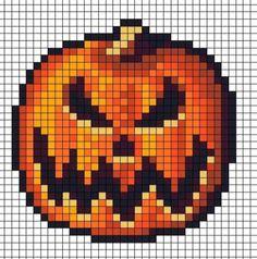 Spooky Pumpkin Perler Hama Melty Fuse Beads