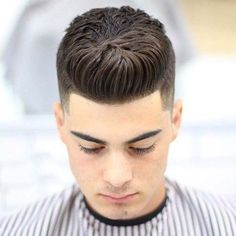 Dapper Haircuts - Temple Fade with Brush Up