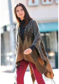 Pončo se vzorem #ModinoCZ #ponco #autumn #fall #fashion #moda #comfortable #trend #styl