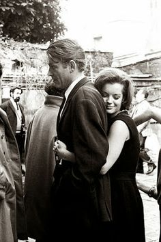 Peter O'Toole and Romy Schneider on the set of What's New Pussycat? What's New Pussycat? directed by Clive Donner Peter O'Toole as Michael James Romy Schneider as Carole