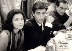 A clip from the past. Jenny Karezi, Alain Delon and Luchino Visconti. Photo by Nikos Mastorakis (on board returning from Epidavros) Greece Pictures, Old Pictures, Romy Schneider, Marcel, Luchino Visconti, Alain Delon, Film Books, Old Movies, Portrait Photo