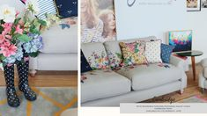 Read all about the exclusive Joules sofa range at DFS - Launeden Floral Sofa, Front Rooms, Dfs, Cottage Farmhouse, Living Room Decor, Living Rooms, Shabby Chic Homes, Spare Room, Joules