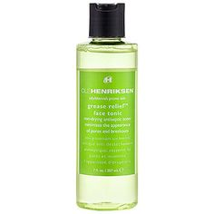 Grease Relief™ Face Tonic - Ole Henriksen Sephora One of my favorite toners! Works wonders on pimples, helps minimize your pores, and lessens oil build up. Pimples On Buttocks, Pimples On Chin, Pimples Under The Skin, Skin Toner, Facial Toner, Grease, Blackheads On Cheeks, Combination Skin Care, Products