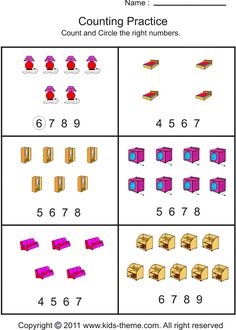 math worksheet : counting number up to 10 in two boxes  april  pinterest  : Counting To 10 Worksheets For Kindergarten