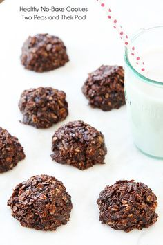Healthy No-Bake Cookies   Gluten Free Cookie Recipe   Two Peas & Their Pod