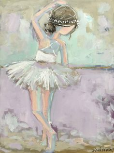 Brooke Ring is a southern artist working in Greenville, South Carolina. Brooke is known for painting colorful florals, coastal scenes, and figures. Canvas Painting Quotes, Diy Canvas Art, Ballerina Painting, Ballerina Nursery, Ballet Drawings, Collor, Pastel Art, Baby Prints, Whimsical Art