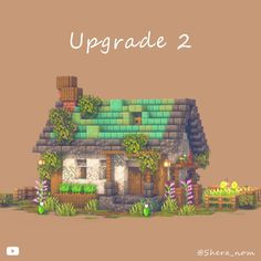 Minecraft Building Guide, Minecraft House Plans, Minecraft Farm, Minecraft Cottage, Easy Minecraft Houses, Minecraft Medieval, Minecraft Decorations, Minecraft Construction, Amazing Minecraft
