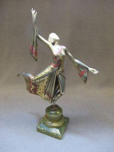 Gerda Iro GERDAGO (1906-?) bronze & ivory statue