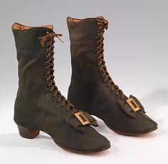 Wool Boots, circa 1860-69