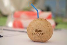 Lacoste Desert Pool Party - branded drinks