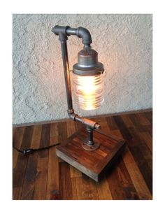 Edison Trouble Light Desk Lamp Metal Pipe by UnionFurnishings