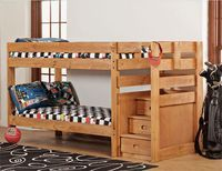 Bunk Bed with Stairs Ideas - this one looks a little more DIY-able.