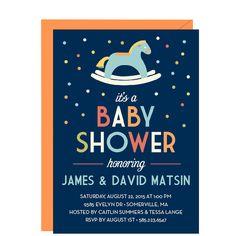 Rocking Horse Baby Shower Invitation