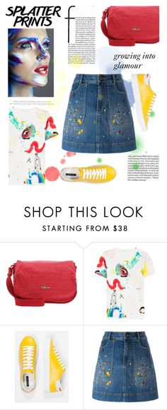 """""""Splatter prints"""" by joliedy ❤ liked on Polyvore featuring Kipling, Marc Jacobs and Alice + Olivia"""