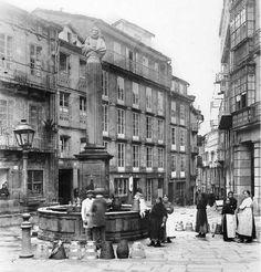 Santiago de Compostela. Fotografías antiguas. Fuente: Recuerdos de mi ciudad Santiago de Compostela