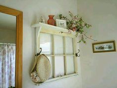 I would paint some panes with chalkboard paint and maybe add corkboard to others. Window repurpose