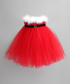 Red Santa Tutu Dress for Infants, Toddlers & Girls by Heart to Heart on #zulily!