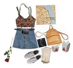 """Tourist"" by rousewilliams ❤ liked on Polyvore featuring Chicnova Fashion, Topshop, adidas Originals and DSPTCH"