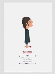 Ilustración. John Lennon. Póster. por Tutticonfetti en Etsy