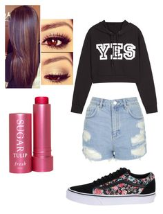 """Untitled #289"" by fangirlmuch on Polyvore featuring Topshop, Vans and Fresh"