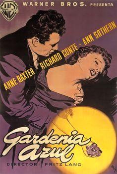 The Blue Gardenia (1953) - Purple Spanish Poster