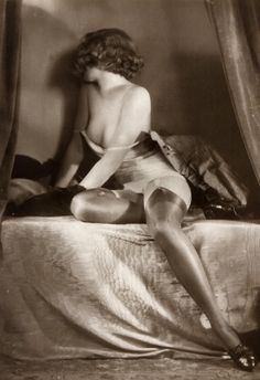 "maudelynn: ""Nearly Ready for Bed ! 1920s Saucy Portrait """