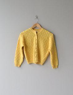 Ray of Sun cardigan vintage 1950s sweater 50s wool by DearGolden