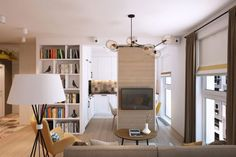 Sliding Doors and Inventive Design Alter Family Apartment in Moscow