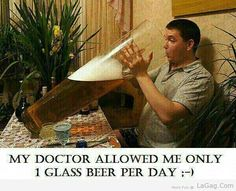 1 Glass Beer Per Day