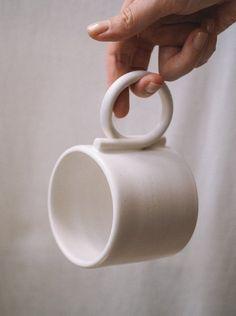 Low Teapot on Garmentory Image of Loop handle mug Minimalist handmade home decor, ceramic, vase and textile.Image of Loop handle mug Minimalist handmade home decor, ceramic, vase and textile. Slab Ceramics, Modern Ceramics, Slab Pottery, Pottery Mugs, Ceramic Pottery, Pottery Wheel, Pottery Gifts, Pottery Bowls, Handmade Home Decor